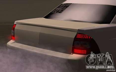 VAZ Lada Priora para GTA San Andreas vista hacia atrás