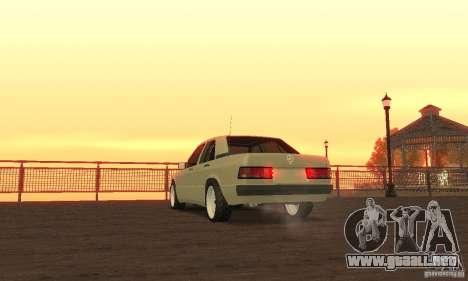 Mercedes-Benz 190E para GTA San Andreas left