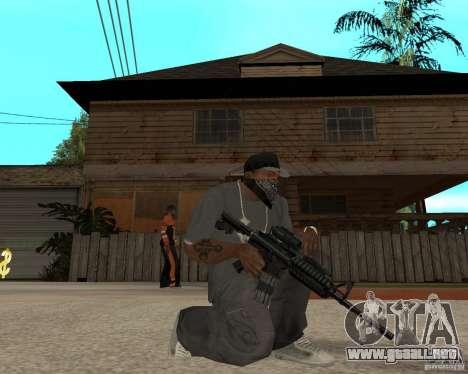 M16 de muy alta calidad para GTA San Andreas segunda pantalla