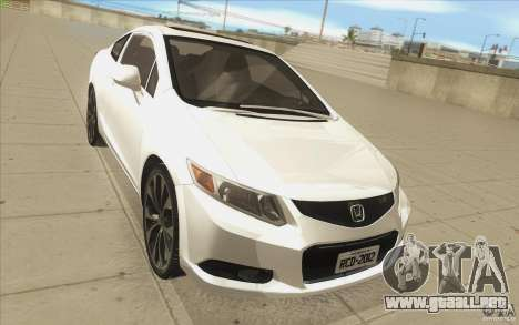 Honda Civic SI 2012 para visión interna GTA San Andreas