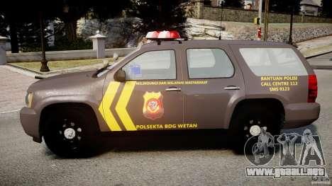 Chevrolet Tahoe Indonesia Police para GTA 4 left
