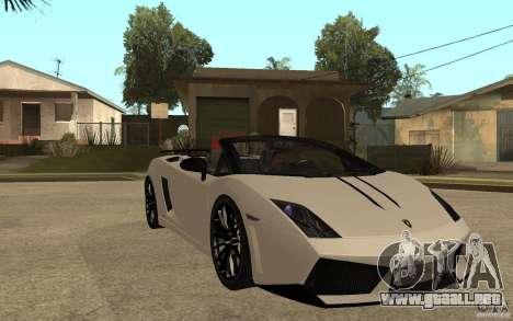 Lamborghini Gallardo LP570-4 para GTA San Andreas vista hacia atrás