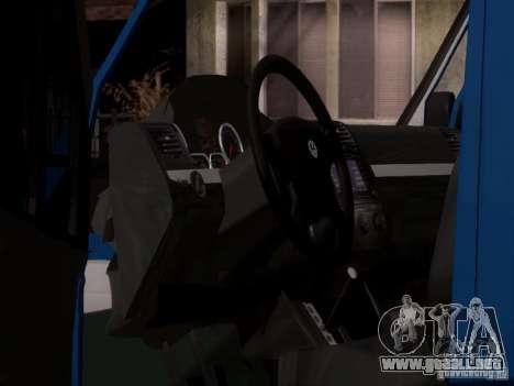 Volkswagen Crafter XL para la vista superior GTA San Andreas