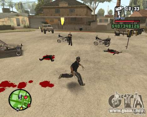 Sangue na tela v2 para GTA San Andreas segunda pantalla