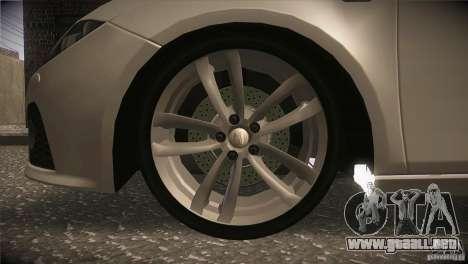 Seat Leon Cupra para la vista superior GTA San Andreas