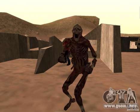 Zombie Half life 2 para GTA San Andreas sucesivamente de pantalla