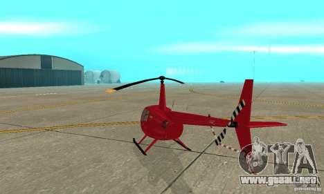 Robinson R44 Raven II NC 1.0 piel 1 para la visión correcta GTA San Andreas