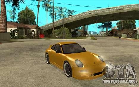 Porsche 911 Sport Classic para GTA San Andreas vista hacia atrás