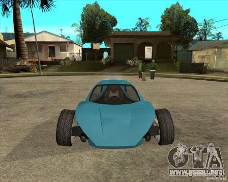 AP3 cobra para GTA San Andreas vista hacia atrás