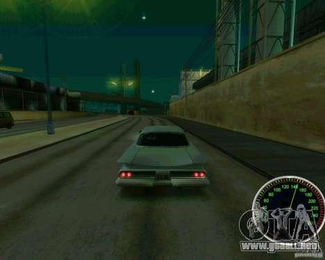 Velocímetro para GTA San Andreas sucesivamente de pantalla