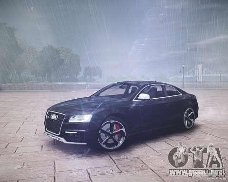 Audi RS5 2010 para GTA 4 Vista posterior izquierda