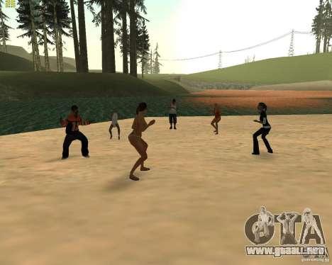 Fiesta de la naturaleza para GTA San Andreas sucesivamente de pantalla