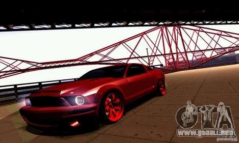 Shelby GT500 KR para GTA San Andreas vista hacia atrás