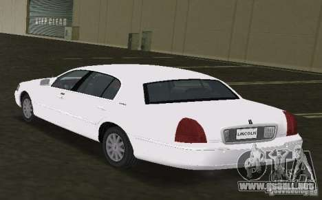 Lincoln Town Car para GTA Vice City left