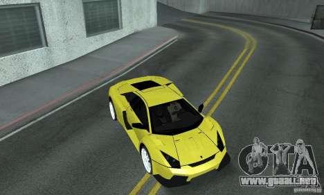 Lamborghini Murcielago Tuned para vista inferior GTA San Andreas