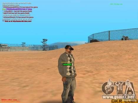 Thermal Goggles para GTA San Andreas sucesivamente de pantalla
