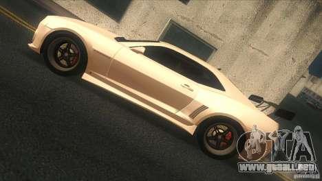 Chevrolet Camaro SS Dr Pepper Edition para GTA San Andreas vista posterior izquierda