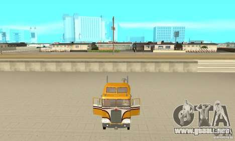 Kenworth K100C Aerodyne para GTA San Andreas vista hacia atrás