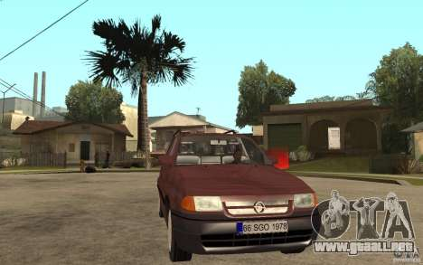Opel Astra SW 1.6 1994 para GTA San Andreas vista hacia atrás