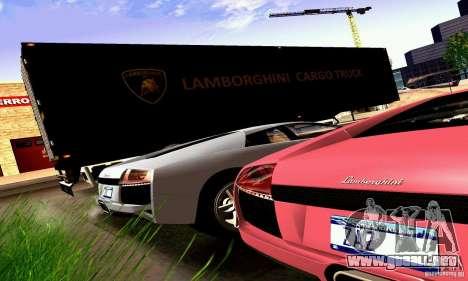 Lamborghini Cargo Truck para GTA San Andreas vista hacia atrás