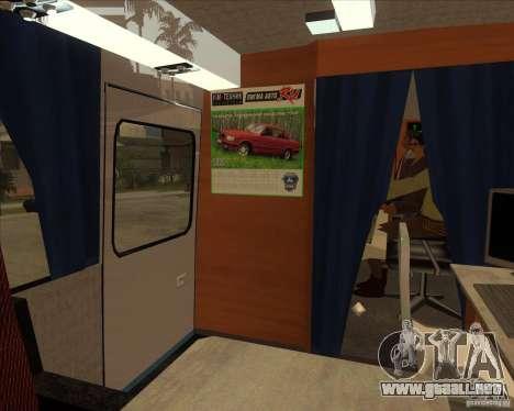 IKARUS 255 Tv para GTA San Andreas vista hacia atrás