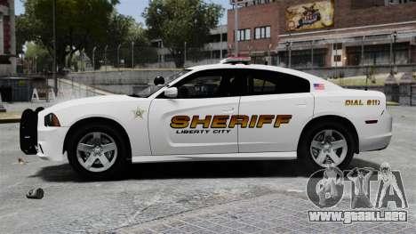 Dodge Charger 2013 Police Code 3 RX2700 v1.1 ELS para GTA 4 left