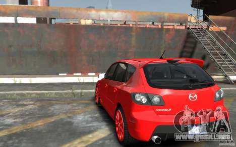 Mazda 3 para GTA 4 Vista posterior izquierda