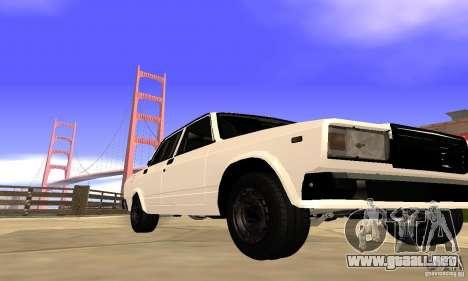 VAZ 2107 para GTA San Andreas left