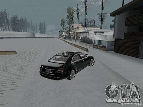 Mercedes-Benz S600 para GTA San Andreas vista posterior izquierda