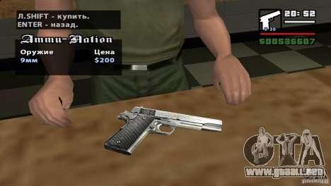 Asamblea de HD para GTA San Andreas segunda pantalla