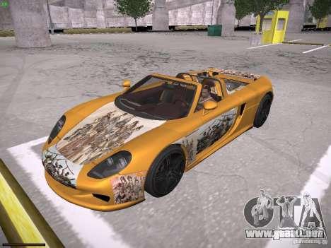 Porsche Carrera GT para la vista superior GTA San Andreas