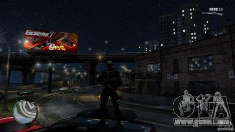 Crysis 2 NanoSuit v4.0 para GTA 4 adelante de pantalla
