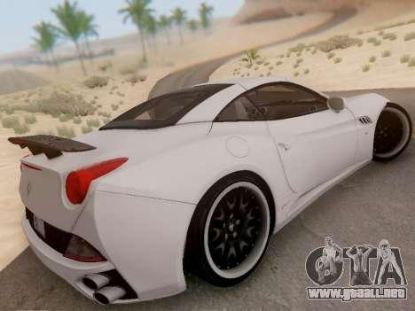 Ferrari California Hamann 2011 para visión interna GTA San Andreas
