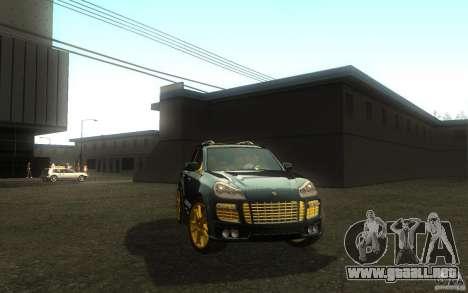 Porsche Cayenne gold para la visión correcta GTA San Andreas