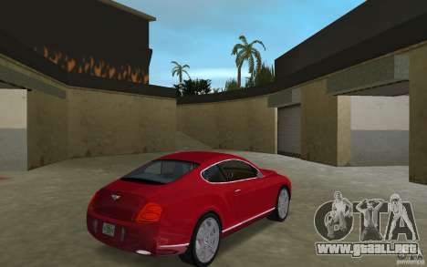 Bentley Continental GT (Final) para GTA Vice City visión correcta
