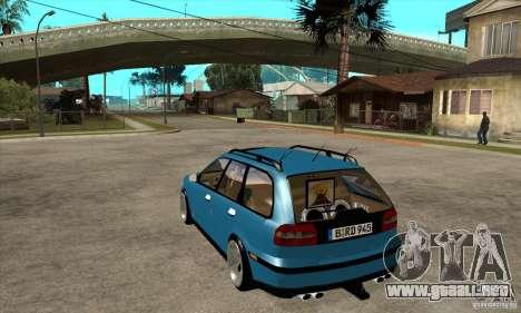 Volvo V40 Gespann para GTA San Andreas vista posterior izquierda