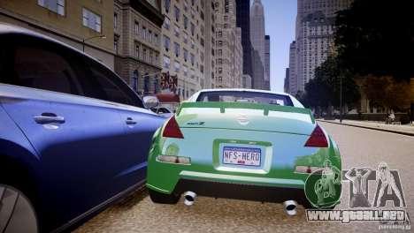 Nissan 350Z Underground 2 Style para GTA 4 visión correcta
