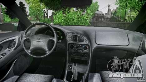 Mitsubishi Eclipse 1998 para GTA 4 vista desde abajo