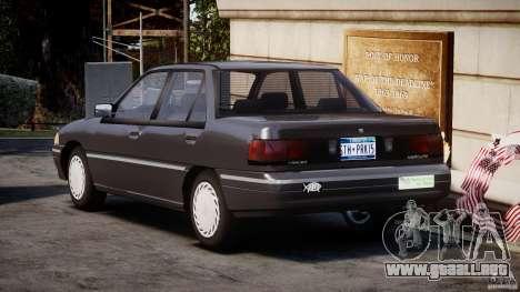 Mercury Tracer 1993 v1.0 para GTA 4 Vista posterior izquierda