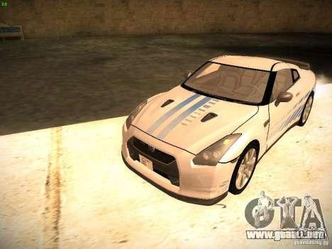 Nissan GT-R para vista inferior GTA San Andreas