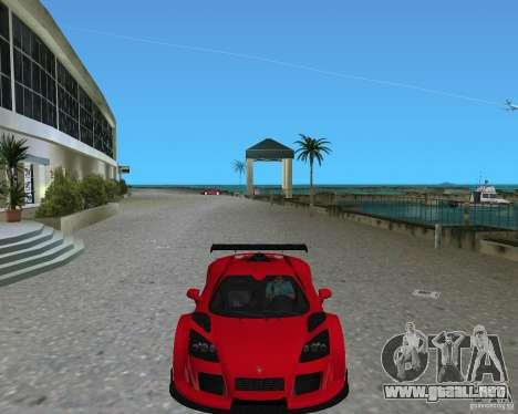 Gumpert Apollo Sport para GTA Vice City visión correcta