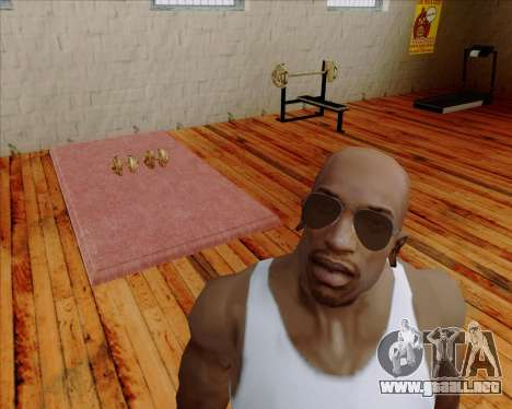 Brown anteojos aviadores para GTA San Andreas segunda pantalla