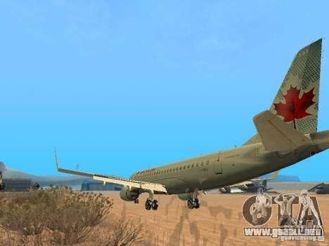 Embraer ERJ 190 Air Canada para la visión correcta GTA San Andreas