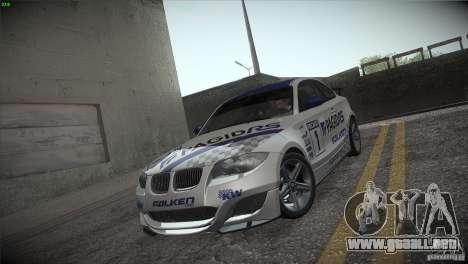 BMW 135i Coupe Road Edition para vista lateral GTA San Andreas
