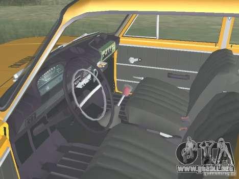 POLICÍA DE TRÁNSITO VAZ 21016 para GTA San Andreas vista hacia atrás