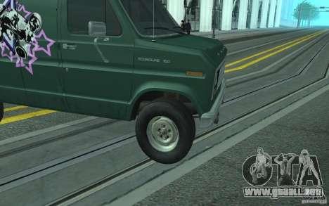 Ford E-150 Short Version v1 para visión interna GTA San Andreas