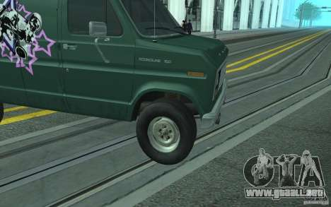 Ford E-150 Short Version v4 para visión interna GTA San Andreas