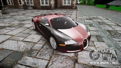 Bugatti Veyron 16.4 v3.0 2005 [EPM] Machiavelli para GTA 4 vista hacia atrás