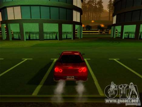 Nissan Skyline GT-R 34 para GTA San Andreas vista hacia atrás