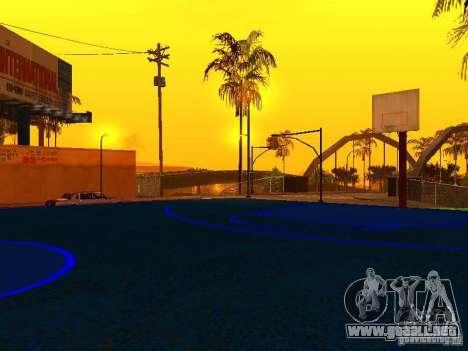 Cancha de baloncesto para GTA San Andreas quinta pantalla